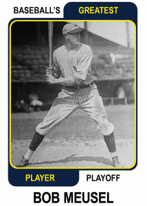 Bob-Meusel-Card Baseballs Greatest Player Playoff