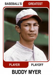 Buddy-Myer-Card Baseballs Greatest Player Playoff