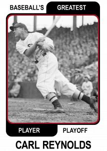 Carl-Reynolds-Card Baseballs Greatest Player Playoff