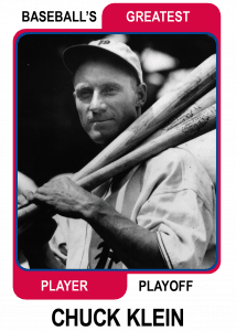 Chuck-Klein-Card Baseballs Greatest Player Playoff