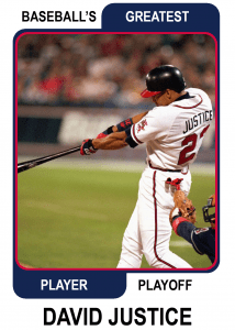 David-Justice-Card Baseballs Greatest Player Playoff