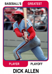 Dick-Allen-Card Baseballs Greatest Player Playoff
