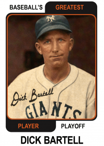 Dick-Bartell-Card Baseballs Greatest Player Playoff