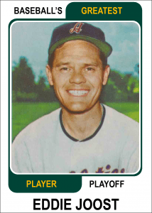 Eddie-Joost-Card Baseballs Greatest Player Playoff