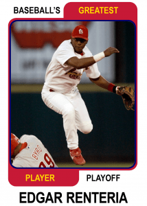 Edgar-Renteria-Card Baseballs Greatest Player Playoff