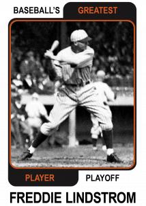 Freddie-Lindstrom-Card Baseballs Greatest Player Playoff