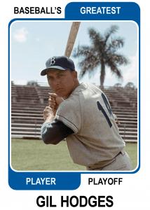 Gil-Hodges-Card Baseballs Greatest Player Playoff
