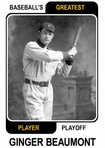 Ginger-Beaumont-Card Baseballs Greatest Player Playoff