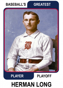 Herman-Long-Card Baseballs Greatest Player Playoff