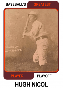 Hugh-Nicol-Card Baseballs Greatest Player Playoff