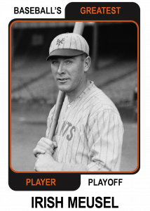 Irish-Meusel-Card Baseballs Greatest Player Playoff
