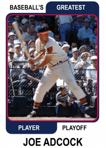 Joe-Adcock-Card Baseballs Greatest Player Playoff