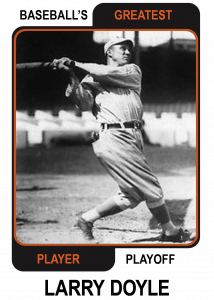 Larry-Doyle-Card Baseballs Greatest Player Playoff