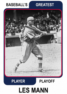 Les-Mann-Card Baseballs Greatest Player Playoff