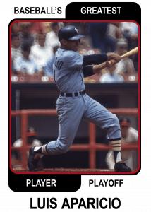 Luis-Aparicio-Card Baseballs Greatest Player Playoff