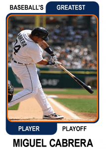 Miguel-Cabrera-Card Baseballs Greatest Player Playoff