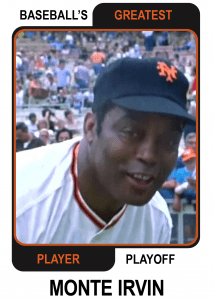 Monte-Irvin-Card Baseballs Greatest Player Playoff