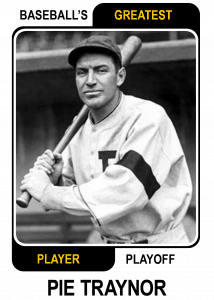 Pie-Traynor-Card Baseballs Greatest Player Playoff