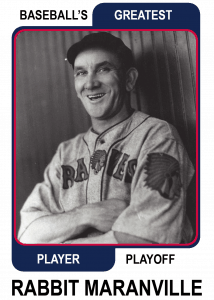 Rabbit-Maranville-Card Baseballs Greatest Player Playoff