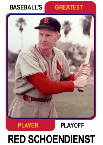 Red-Schoendienst-Card Baseballs Greatest Player Playoff