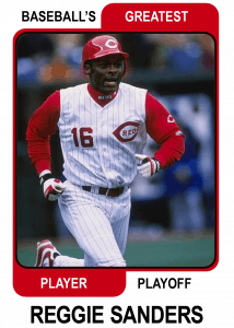 Reggie-Sanders-Card Baseballs Greatest Player Playoff