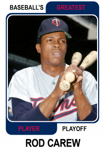 Rod-Carew-Card Baseballs Greatest Player Playoff