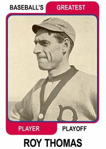 Roy-Thomas-Card Baseballs Greatest Player Playoff