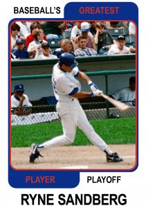 Ryne-Sandberg-Card Baseballs Greatest Player Playoff