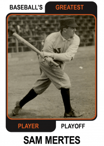 Sam-Mertes-Card Baseballs Greatest Player Playoff