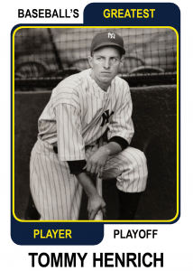 Tommy-Henrich-Card Baseballs Greatest Player Playoff
