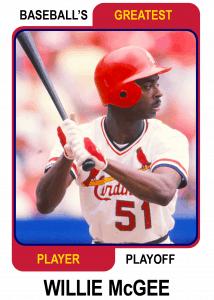 Willie-McGee-Card Baseballs Greatest Player Playoff
