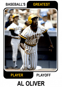 Al-Oliver-Card Baseballs Greatest Player Playoff
