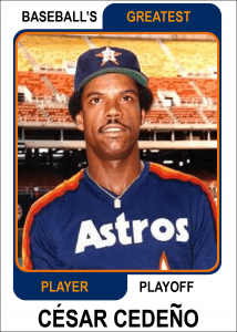 Cesar-Cedeno-Card Baseballs Greatest Player Playoff