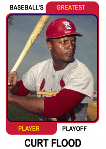 Curt-Flood-Card Baseballs Greatest Player Playoff