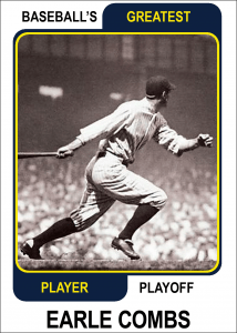 Earle-Combs-Card Baseballs Greatest Player Playoff
