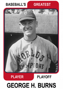 George-H-Burns-Card Baseballs Greatest Player Playoff