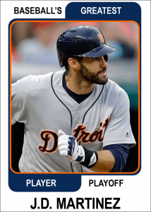 JD-Martinez-Card Baseballs Greatest Player Playoff