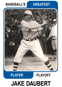 Jake-Daubert-Card Baseballs Greatest Player Playoff