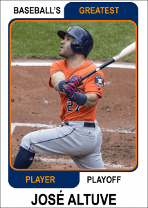Jose-Altuve-Card Baseballs Greatest Player Playoff