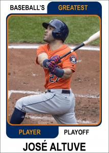 Jose-Altuve-Card Baseballs Greatest Player Playoff