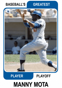 Manny-Mota-Card Baseballs Greatest Player Playoff