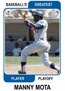 Manny-Mota-Card Baseballs Greatest Player Playoff