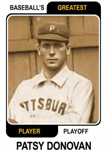 Patsy-Donovan-Card Baseballs Greatest Player Playoff