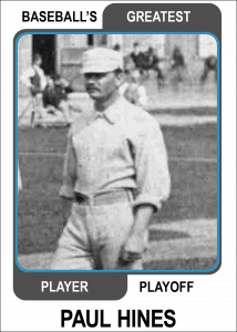 Paul-Hines-Card Baseballs Greatest Player Playoff