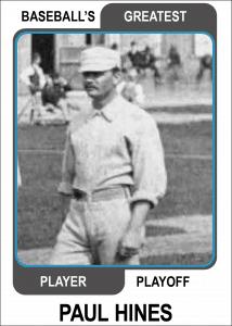 Paul-Hines-Card Baseballs Greatest Player Playoff