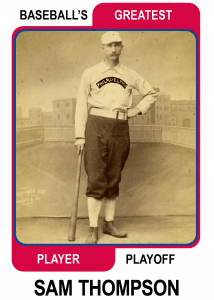 Sam-Thompson-Card Baseballs Greatest Player Playoff