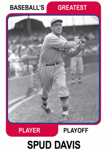 Spud-Davis-card Baseballs Greatest Player Playoff