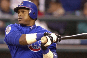 Sammy-Sosa-swing Baseballs Greatest Player Playoff