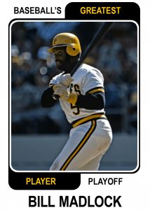 Bill-Madlock-Card Baseballs Greatest Player Playoff
