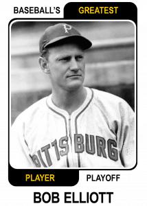 Bob-Elliott-Card Baseballs Greatest Player Playoff Card